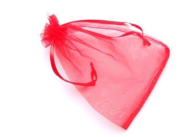 LAE41 - saculet organza rosu
