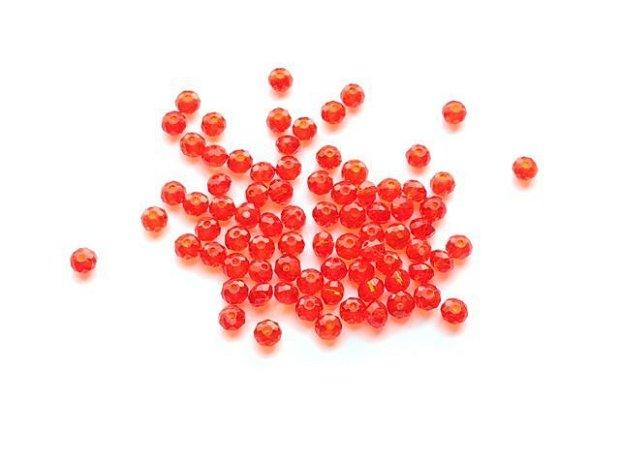 LMS454 - margele sticla rosii fatetate