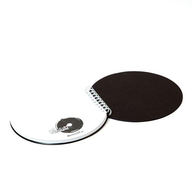 Agenda rotunda din vinyl reciclat, Carnet personalizat A5