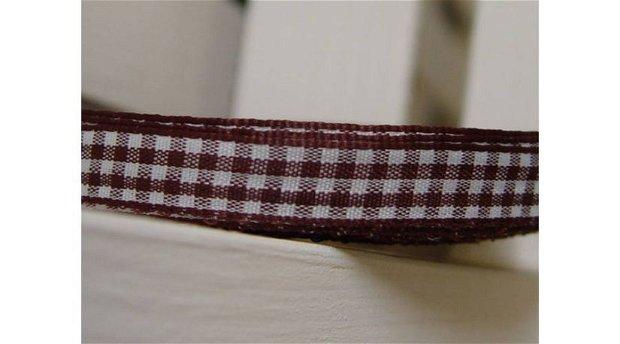 Banda decor -patrat maro-alb -1cm/1m
