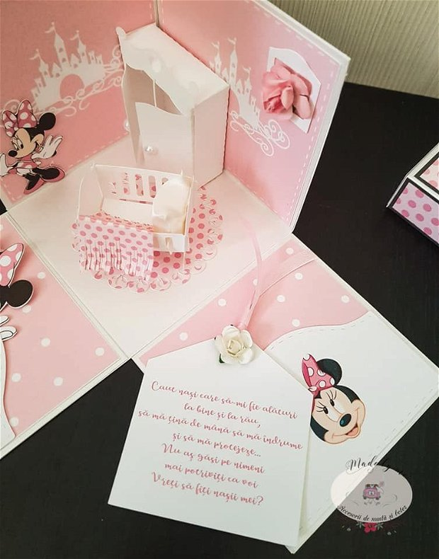 invitatie speciala tematica Minnie
