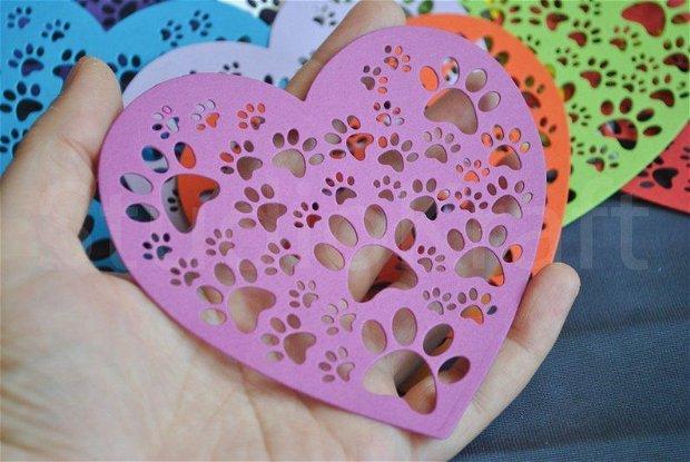 10 b. Decupaje carton inima