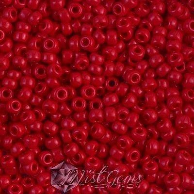 Miyuki Rocailles RR8/0-0408 Opaque Red