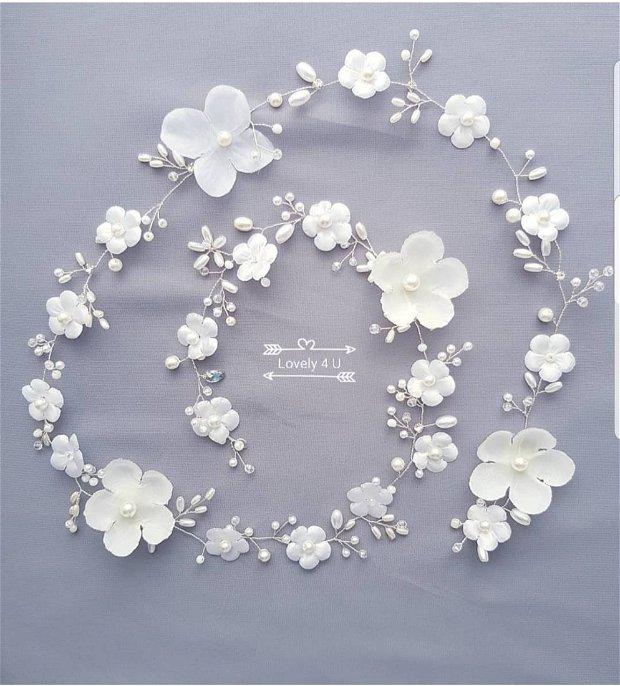 Ghirlanda cu flori - Accesoriu lung mireasa
