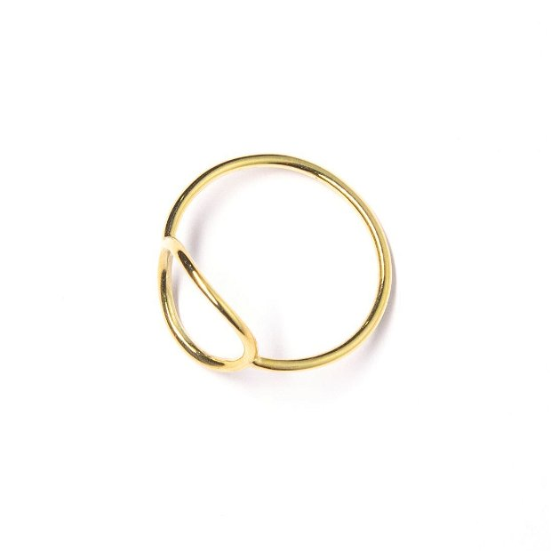 Inel delicat Circle of Life din aur galben