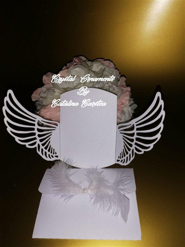 Invitatie nunta / botez aripi inger