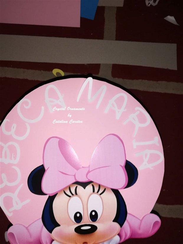 Cutie de dar botez baby Minnie / casuta de bani