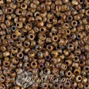 Miyuki Rocailles RR08/0-4517 Opaque Picasso Brown