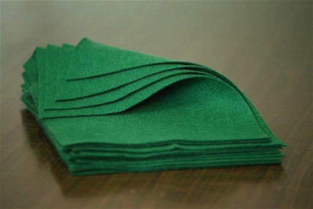Fetru din lana- A4-  verde muschi