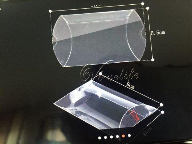 Cutiuta transparentă (6,5x6,5x2,5cm)