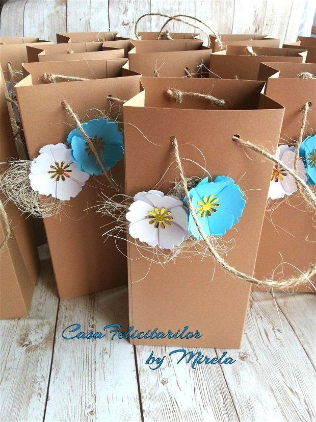 Cutii craft decorate cu flori- hortensii