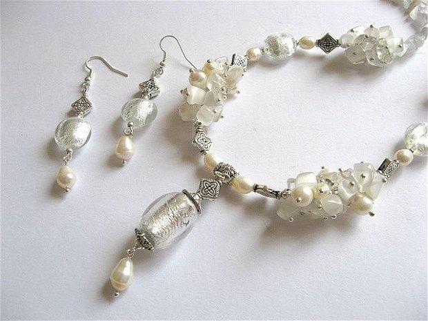 set perle ,cristal de stanca 19347