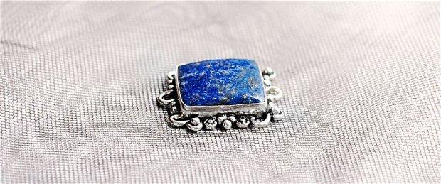 Pandant/link  Lapis Lazuli in rama argintata