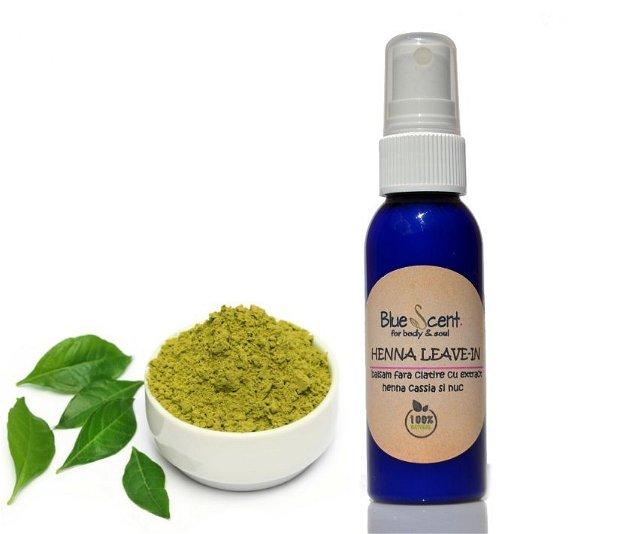Henna Leave-In-balsam fara clatire cu henna,cassia si nuc-BlueScent
