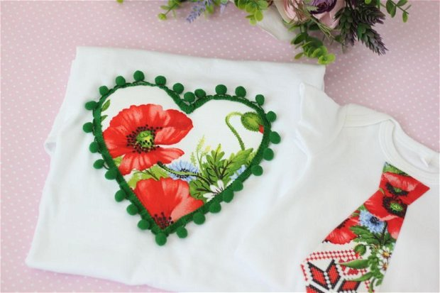 Tricouri Motive Traditionale Asortate Mama Baiat, Tricouri la Fel Familie Maci