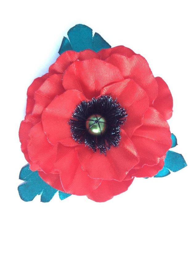 Brosa - floare de mac (632)