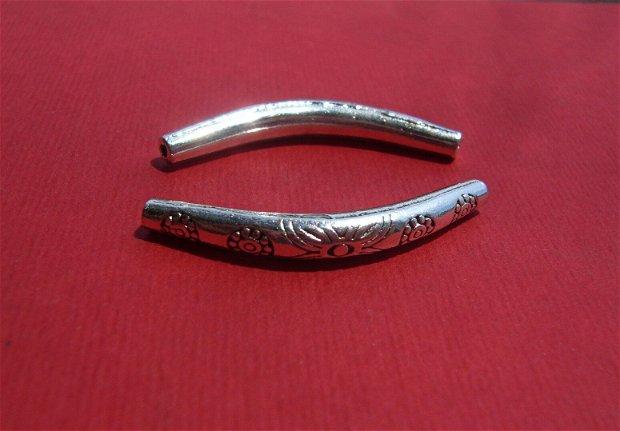 Tub MIC argintiu curbat aprox 35x10 mm