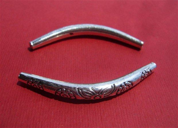 Tub MARE argintiu curbat aprox 42x14 mm