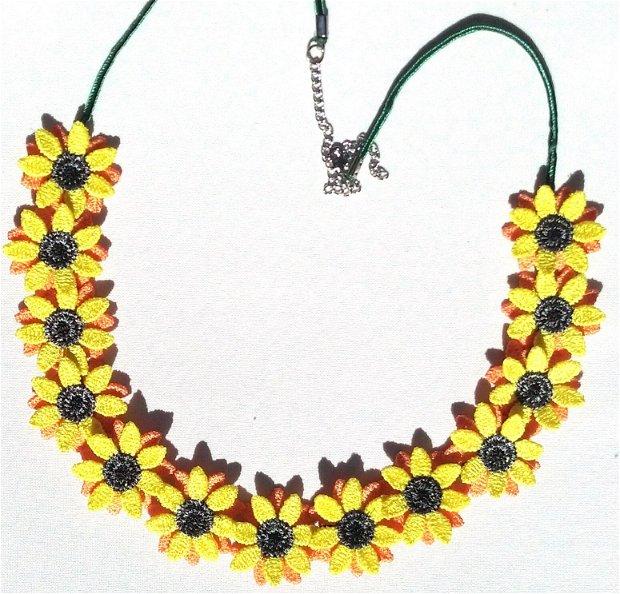 Colier cu floarea soarelui Sunflowers