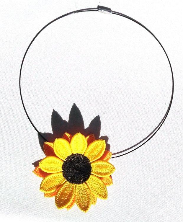 Colier Floarea soarelui dubla