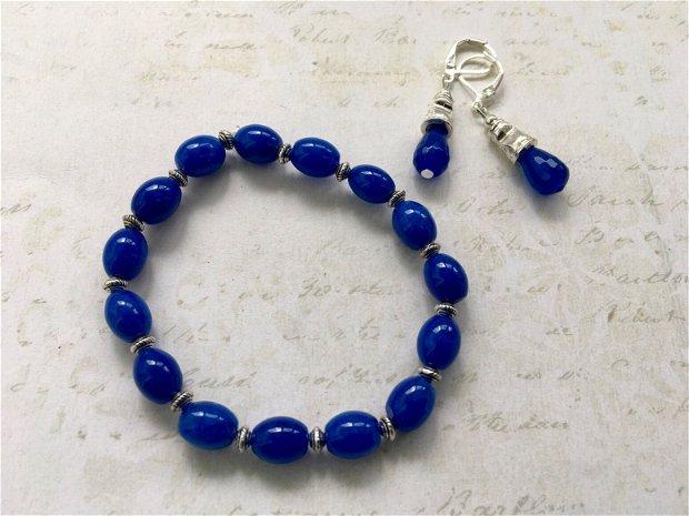 Set medieval alama & jad albastru