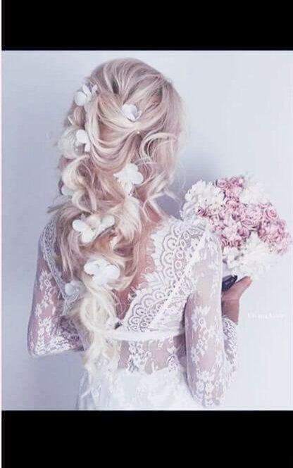 Accesoriu mireasă lung cu flori și perle - Harynna
