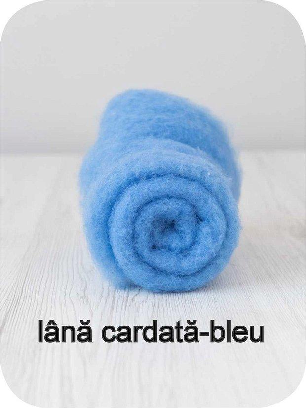 lana cardata- bleu
