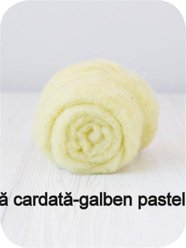 lana cardata- galben pastel