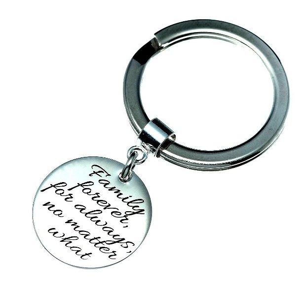 Breloc personalizat Tatic Iubit - cadou pentru el - breloc banut argint