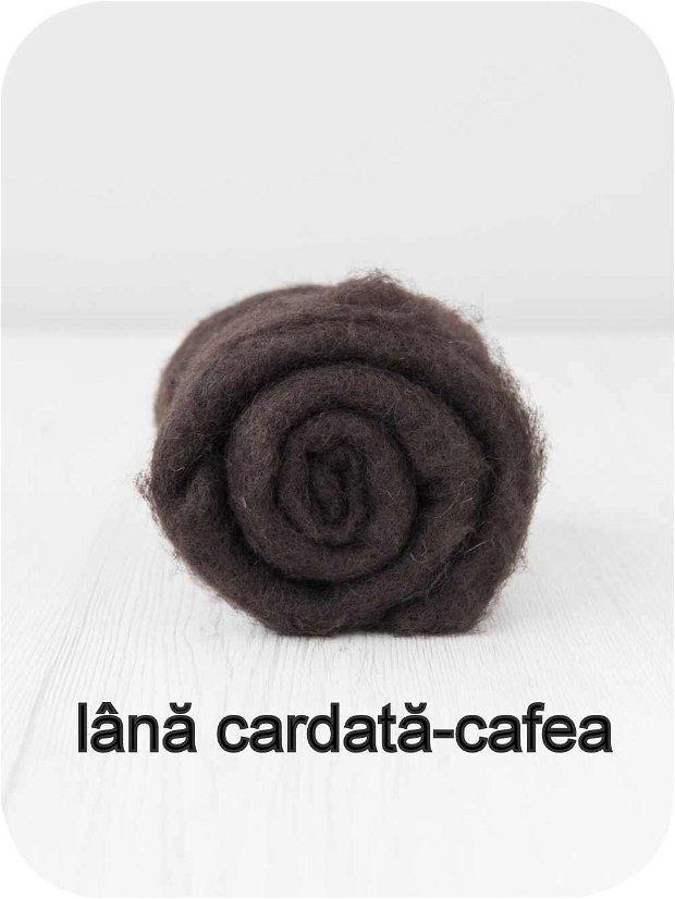 lana cardata-cafea