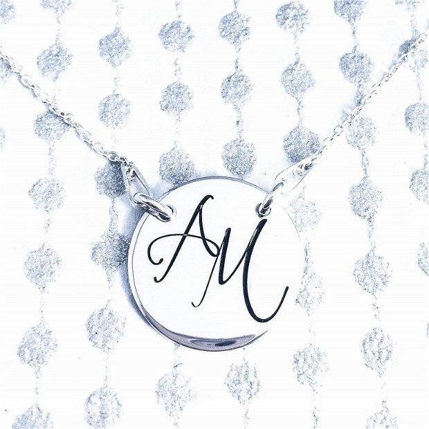 Chic & Style - Lantisor argint cu banut - Monograme