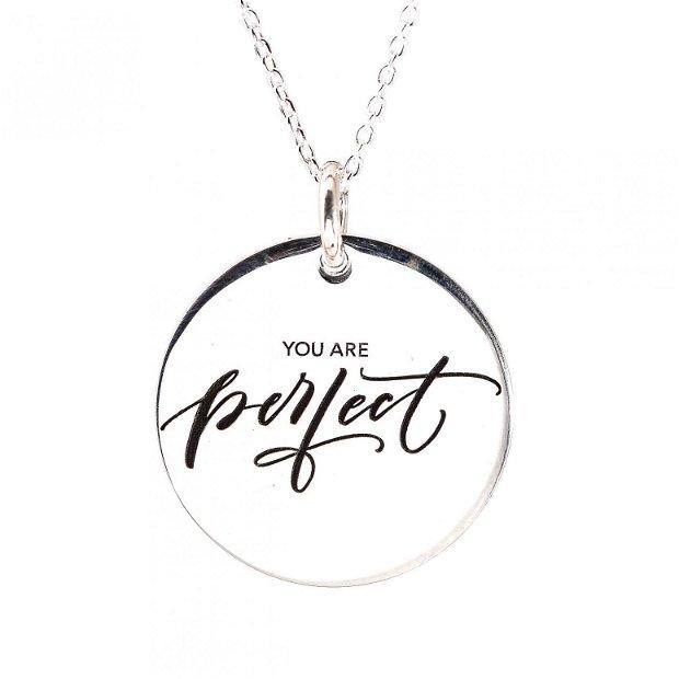 Friends - Colier personalizat argint cu mesaj - cadou prietene