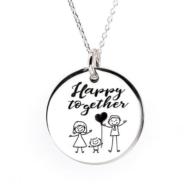 My Family - colier personalizat - colier din argint cu nume si membrii familiei