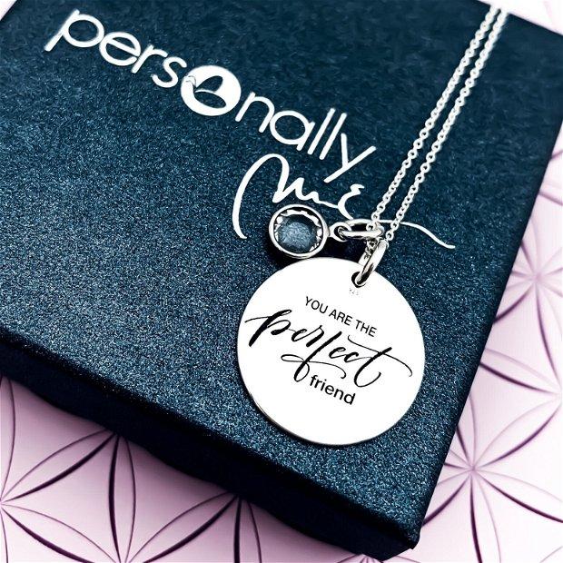 The Perfect Friend- colier argint personalizat - banut argint gravat