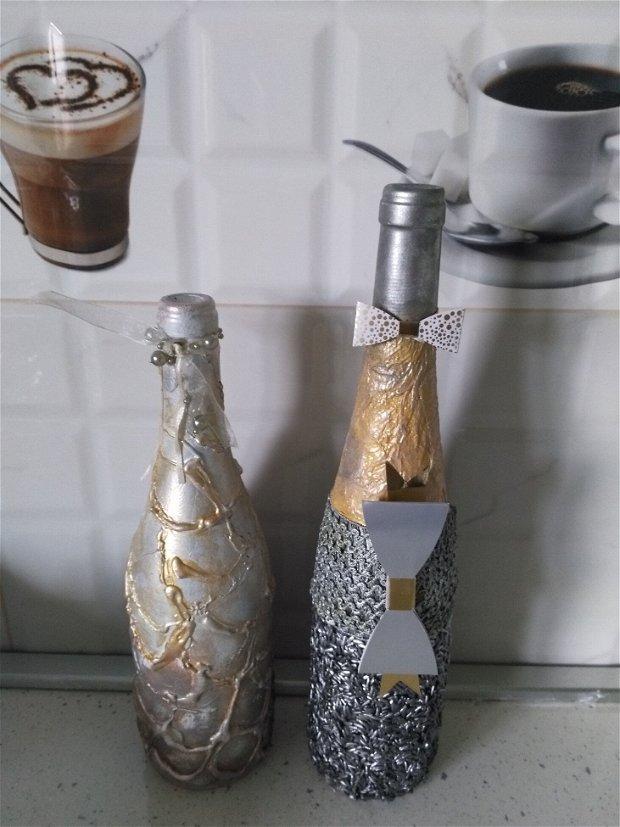 Sticle de vin decorate manual.