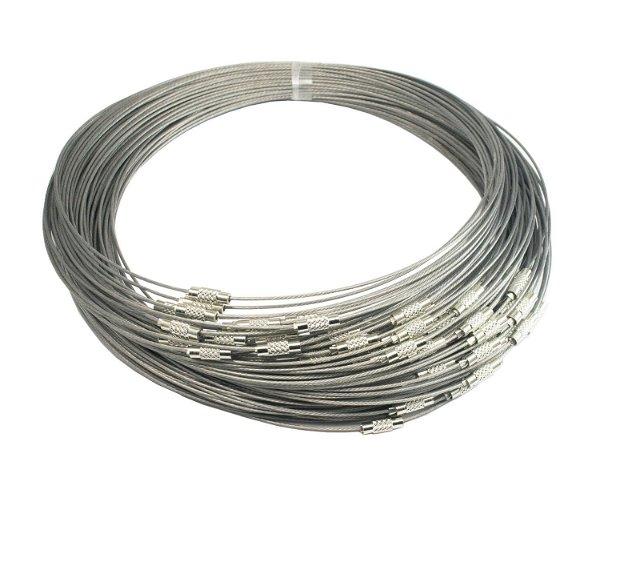 Baza colier argintie