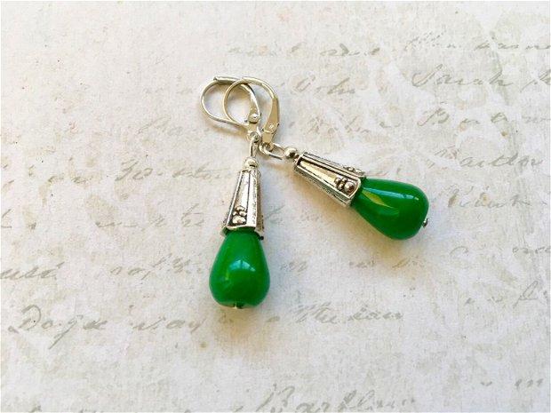 cercei Jad verde