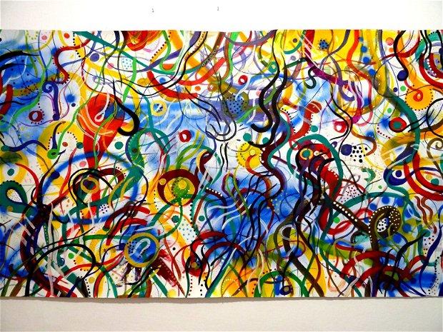 Tablou pe panza cu vopsele acrilice-Abstract Painting