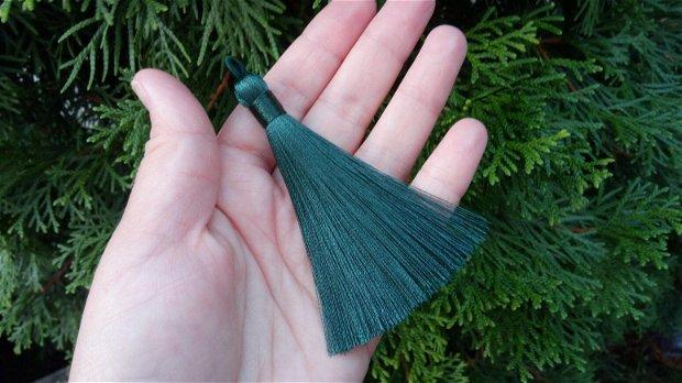 Ciucuri (9cm) mătase, verde închis