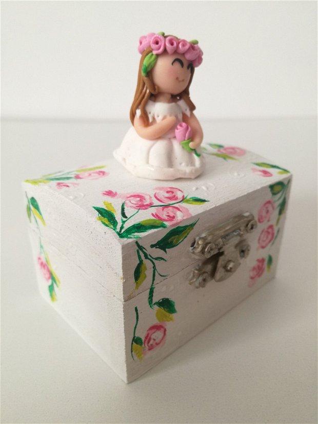 Rose - cutiuta pentru inel de logodna/ bijuterii/verighete