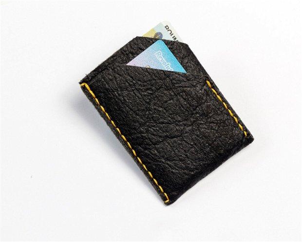 """Portofel """"PocketP"""" din Pinatex - piele de ananas,  slim, personalizat prin gravura"""