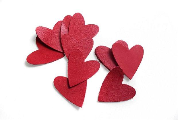 Inimi de piele - 2 buc  [ 5.5 x 4.8 cm ]