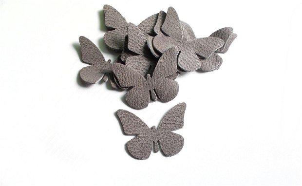 Fluturi Piele texturata  - 2 buc  [ 6 x 5 cm ]   - F 1