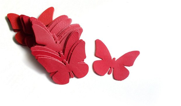 Fluturi Piele  - 2 buc  [ 6 x 5 cm ] - F6
