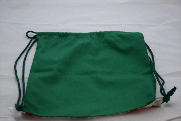 Săculeț/rucsac pentru grădiniță-dragon, sau echipament sportiv, zero waste