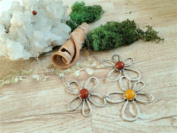 Colier floare  zamac