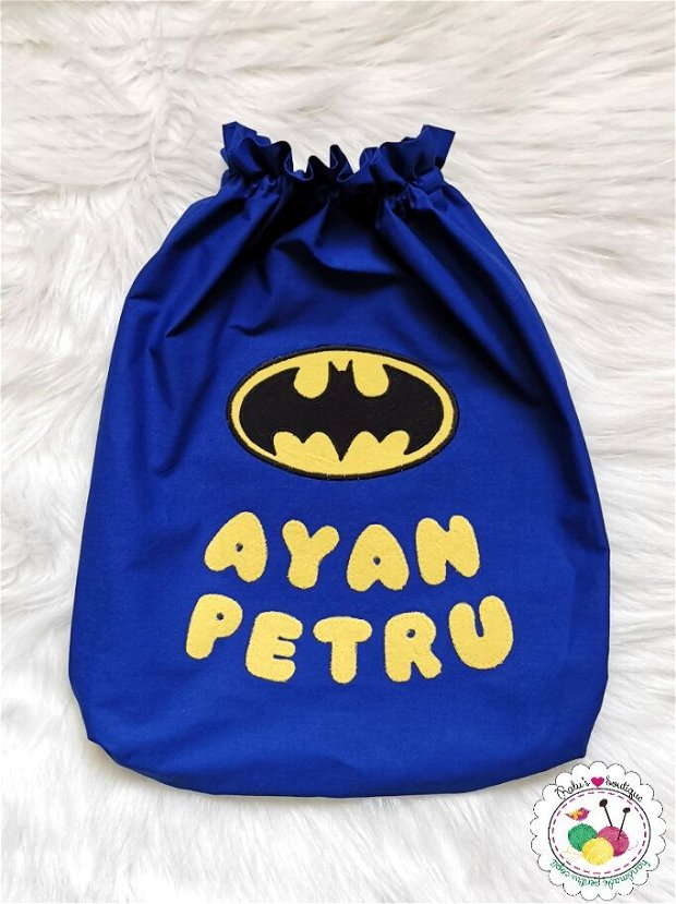 Saculet gradinita personalizat - Batman