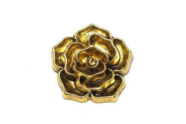 Pandantiv metalic, auriu antichizat, 37 mm