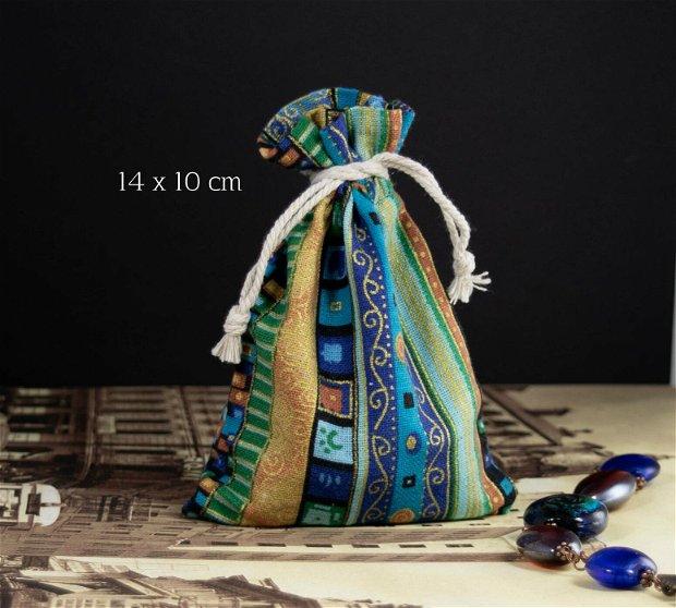 Punguta textila, 14 x 10 cm, PCO56