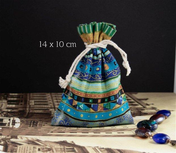 Punguta textila, 14 x 10 cm, PCO58